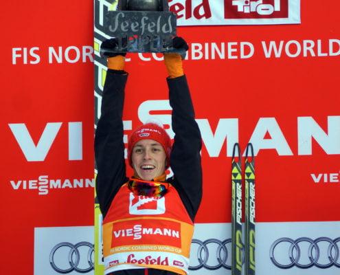 Eric Frenzel Gesamtsieger Nordic combined triple Seefeld 2014