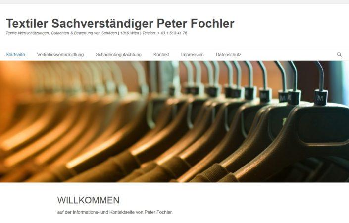 Textiler Sachverständiger - Peter Fochler