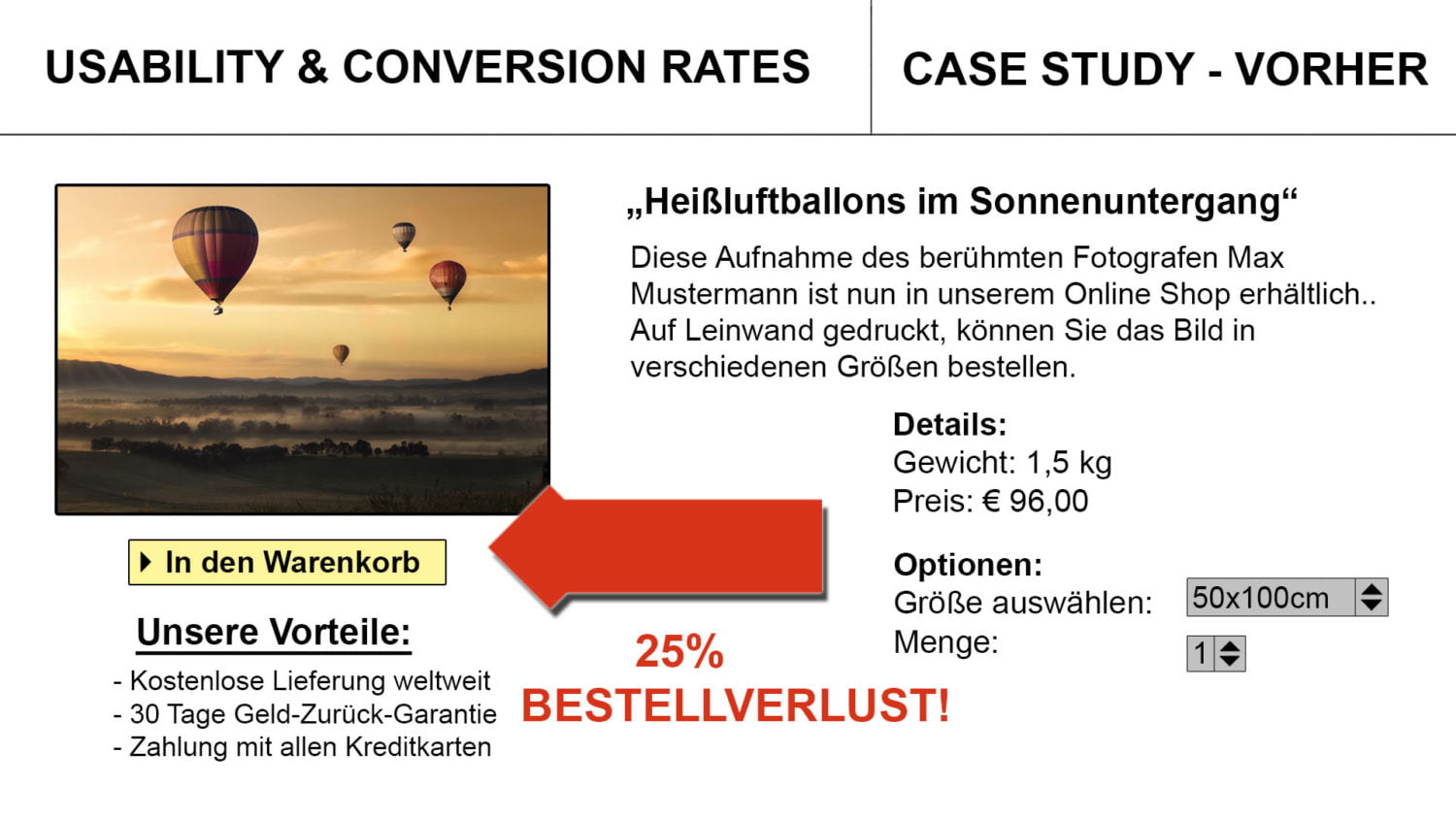 Usability Conversion Before