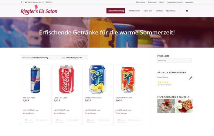 Rieglers Eissalon Online-Shop