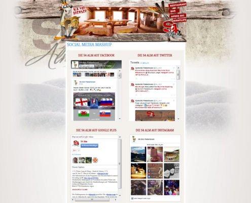S4 Alm - Mashup Seite